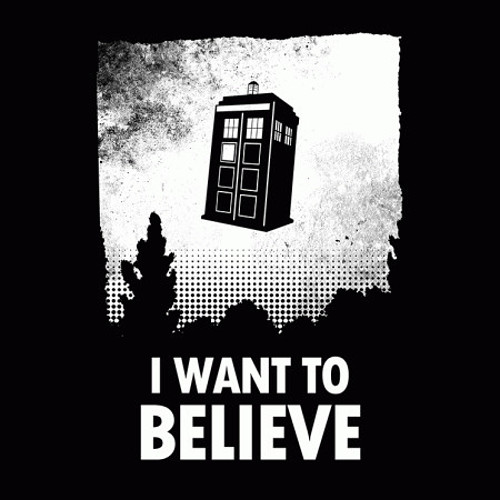 I Want to Believe Doctor Who T-Shirt