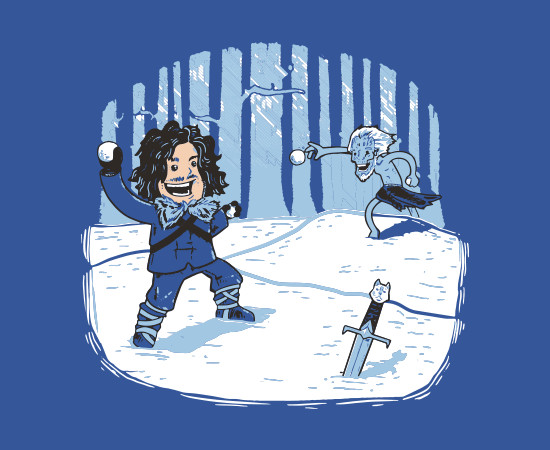Jon Snow Snowball Game of Thrones T-Shirt