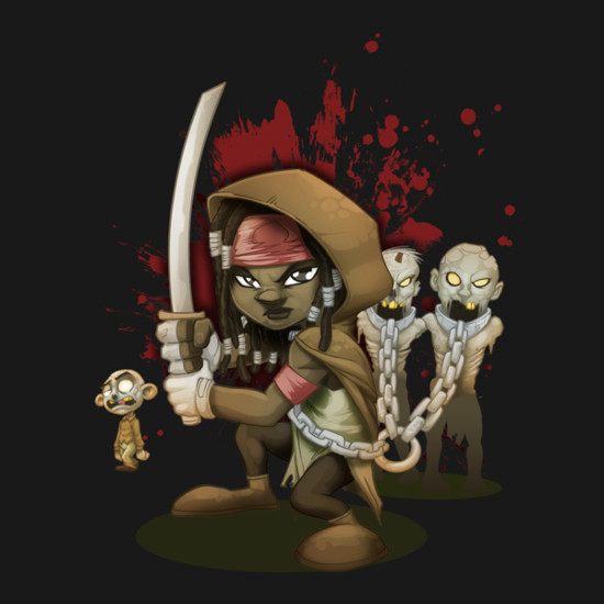 Michonne The Walking Dead Fan Art T-Shirt