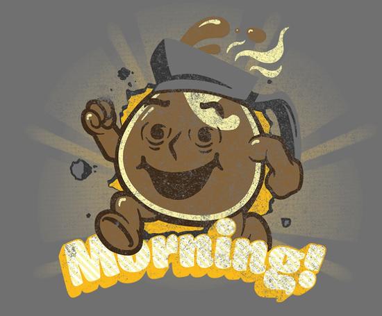 Morning Coffee Kool-Aid Man Oh Yea T-Shirt