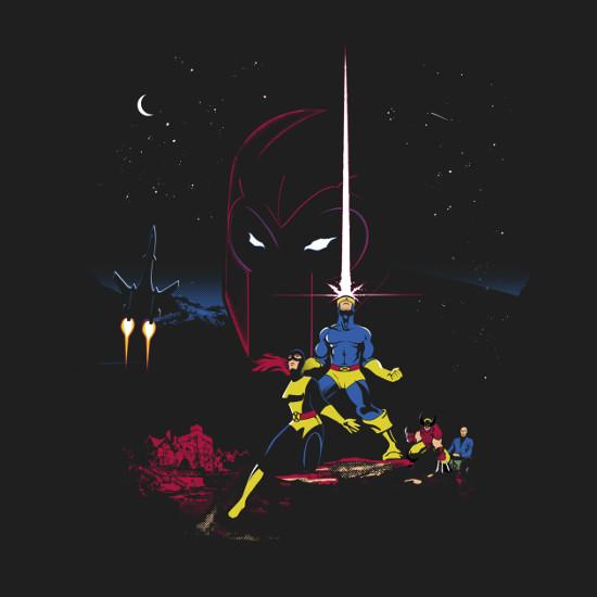 Mutant Wars X-Men Star Wars Poster T-Shirt