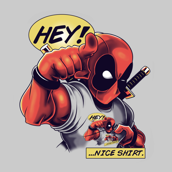 Deadpool Hey Nice Shirt Double T-Shirt