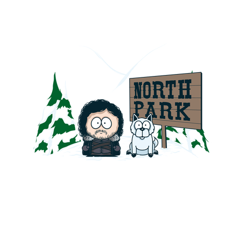 North Park Jon Snow Game of Thrones South Park T-Shirt