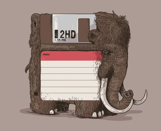 Floppy Disk Woolly Mammoth T-Shirt