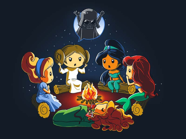 Princess Leia Vader Campfire Story T-Shirt