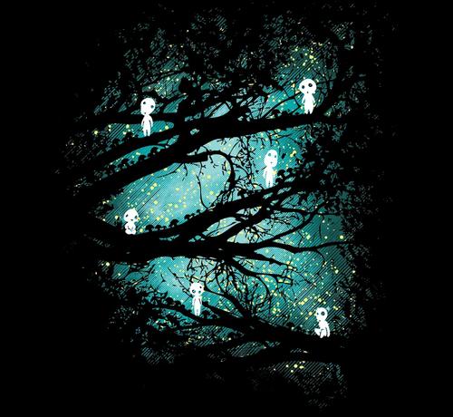 Princess Mononoke Kodama Tree Spirits T-Shirt