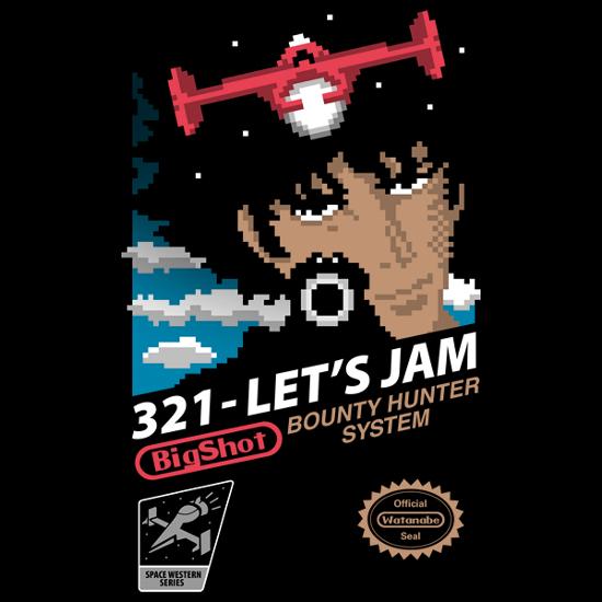 321 Let's Jam Cowboy Bebop NES Nintendo Game T-Shirt