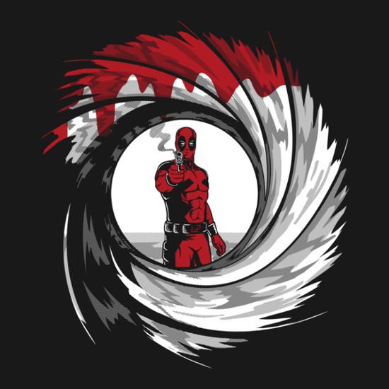 Deadpool James Bond 007 Logo T-Shirt