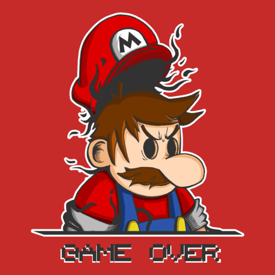 Game Over Super Mario T-Shirt