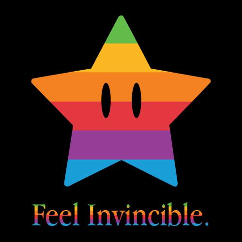 Feel Invincible Super Mario Apple Star T-Shirt