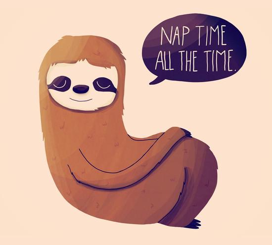 Nap Time Sloth T-Shirt