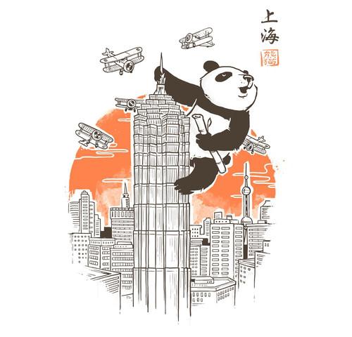 Meanwhile in Shanghai Panda King Kong T-Shirt