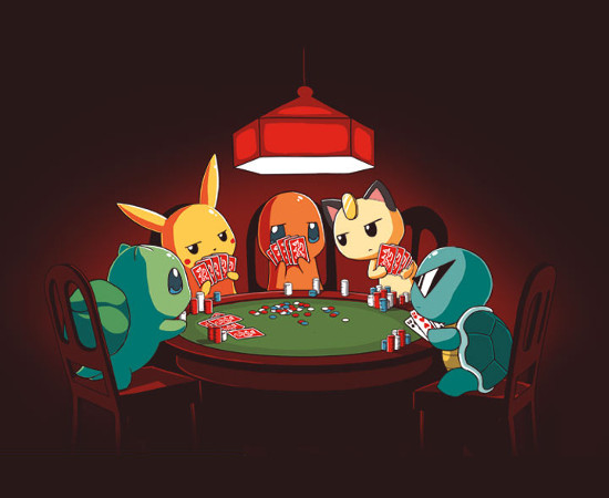 Pokermon Pokémon Playing Poker T-Shirt