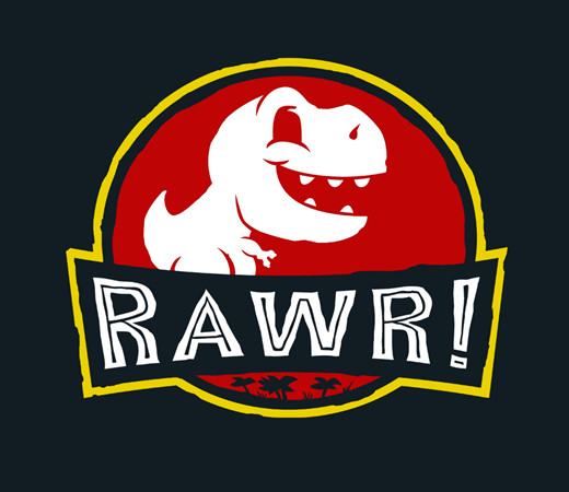Rawr Jurassic Park Cute T-Rex Dinosaur T-Shirt