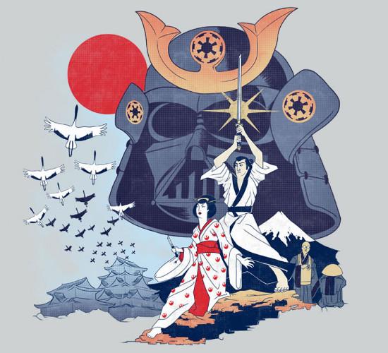 Samurai Star Wars Japan T-Shirt