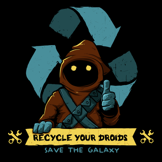 Recycle Your Droids Jawa Star Wars T-Shirt