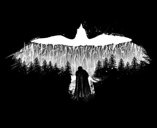 Jon Snow Crow Bird Game of Thrones T-Shirt