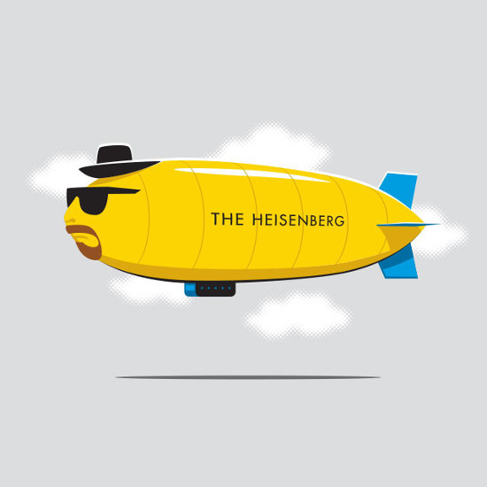 The Heisenberg Breaking Bad Hindenburg Blimp T-Shirt