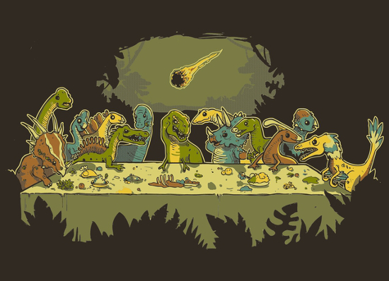 The Last Supper for Dinosaurs T-Shirt
