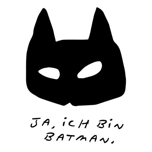 Ja, Ich Bin Batman T-Shirt