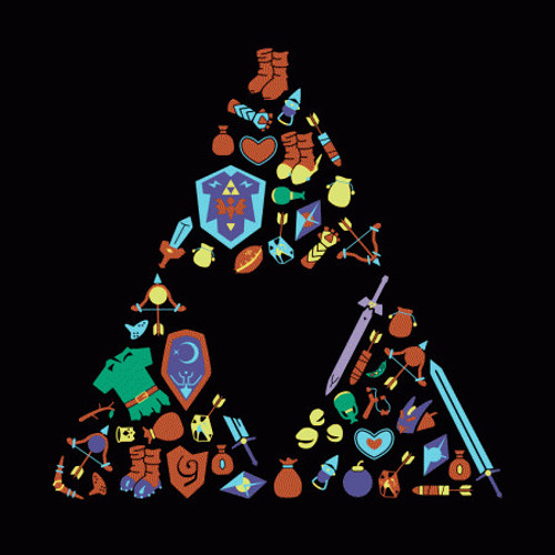 The Legend of Zelda Item Triforce T-Shirt