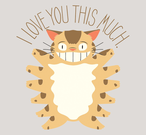 I Love You This Much Catbus My Neighbor Totoro T-Shirt