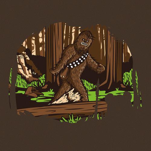 Bigfoot of Endor Chewbacca Star Wars T-Shirt
