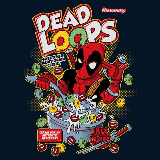 Dead Loops Deadpool Cereal T-Shirt