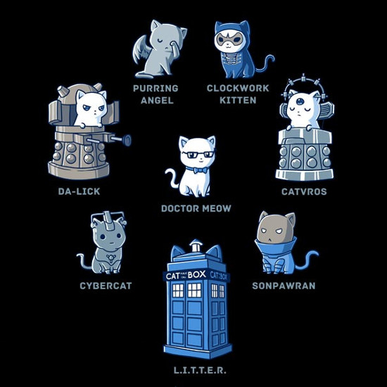 Doctor Meow Doctor Who Cats T-Shirt