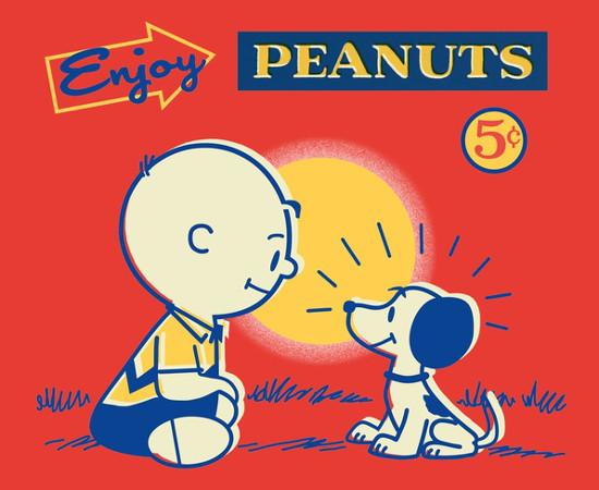 Fresh Peanuts Daily Vintage Charlie Brown Snoopy Comic T-Shirt