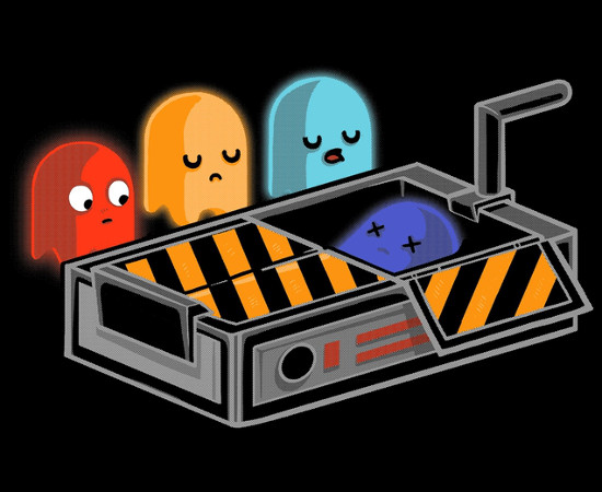 Pac-Man Ghosts Ghostbusters Trap T-Shirt