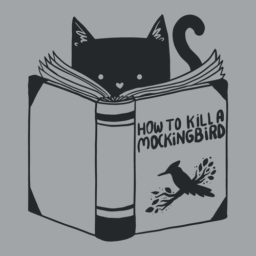 How To Kill a Mockingbird Cat Book Funny T-Shirt