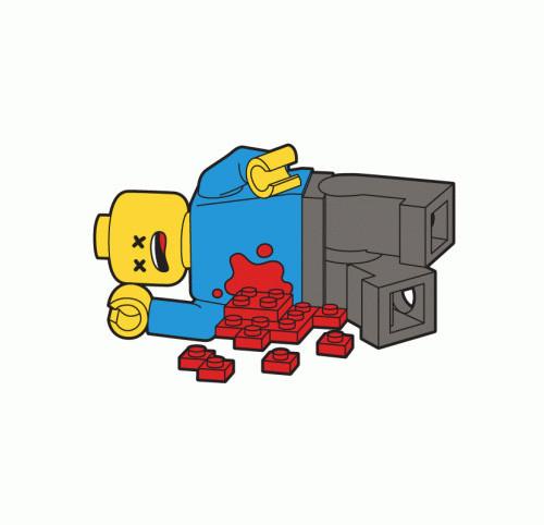 Lego Guy Gunshot Wound T-Shirt