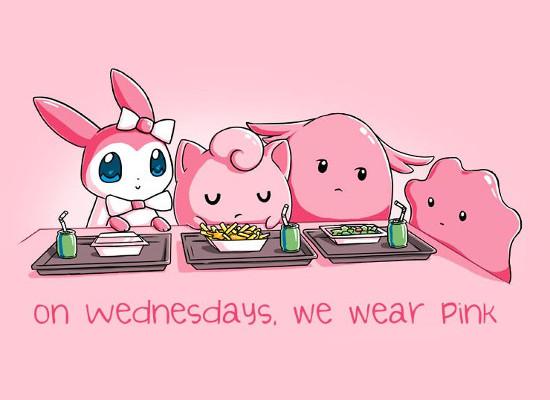 On Wednesdays We Wear Pink Jigglypuff Kirby Mean Girls T-Shirt