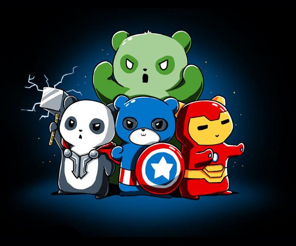 Pandavengers The Avengers Pandas T-Shirt