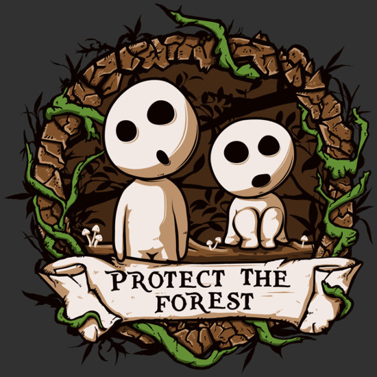 Protect the Forest Kodamas Princess Mononoke T-Shirt