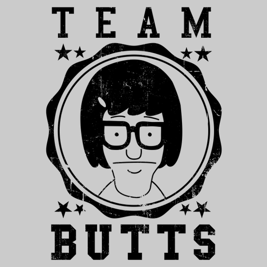 Tina Belcher Team Butts Bob's Burgers T-Shirt