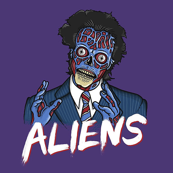 Ancient Aliens They Live T-Shirt