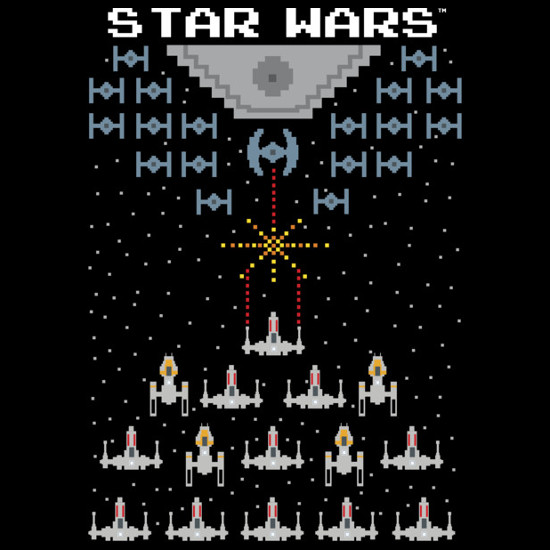 Pixel Wars Rebels vs. Empire Star Wars Arcade Gaming T-Shirt
