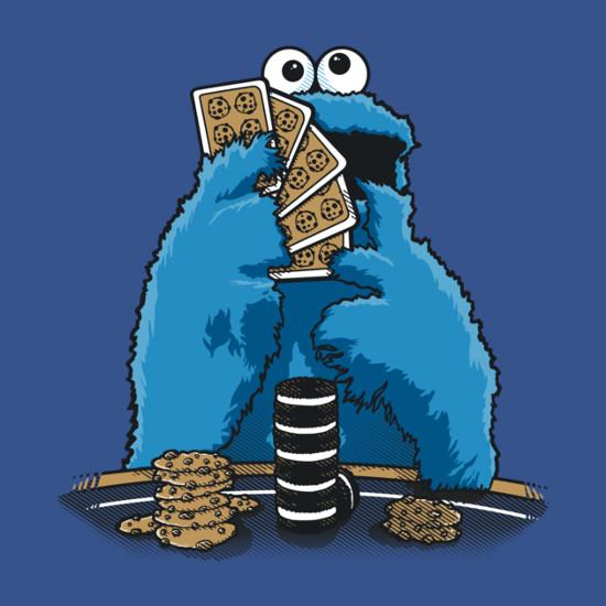 Cookie Monster No Limit Holdem Poker Sesame Street T-Shirt