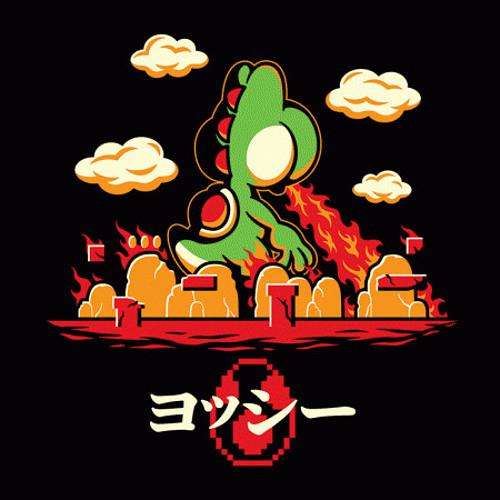 Yoshi Godzilla Funny Super Mario Bros T-Shirt