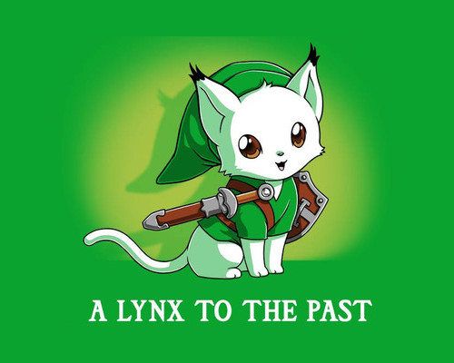 A Lynx to the Past Legend of Zelda Link T-Shirt