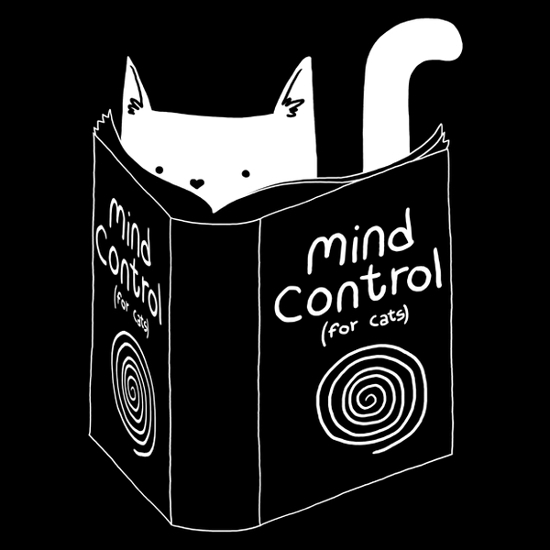 Mind Control for Cats Book T-Shirt
