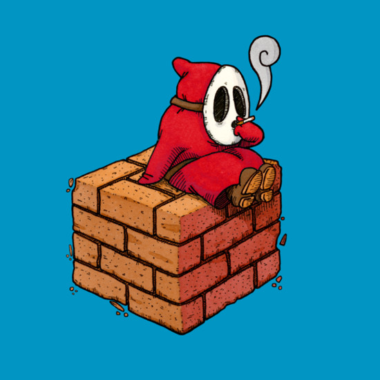Shy Guy Smoke Break Super Mario T-Shirt