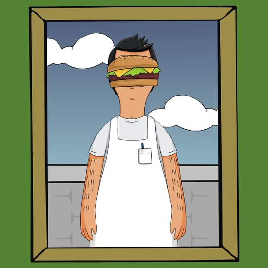 Son of Bob's Burgers Man Magritte T-Shirt