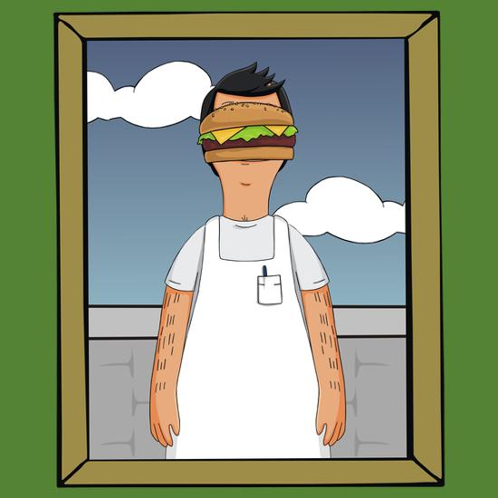 Son of Bob's Burgers Man Magritte T-Shirt