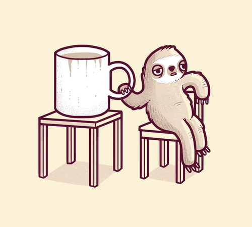 Mondays Sloth Coffee T-Shirt