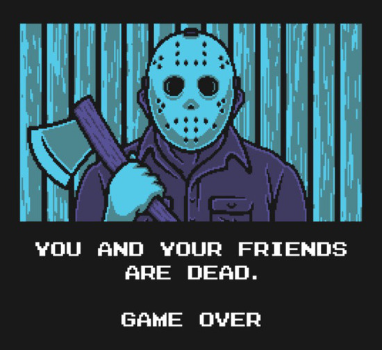 Game Over Jason Friday the 13th NES Game T-Shirt