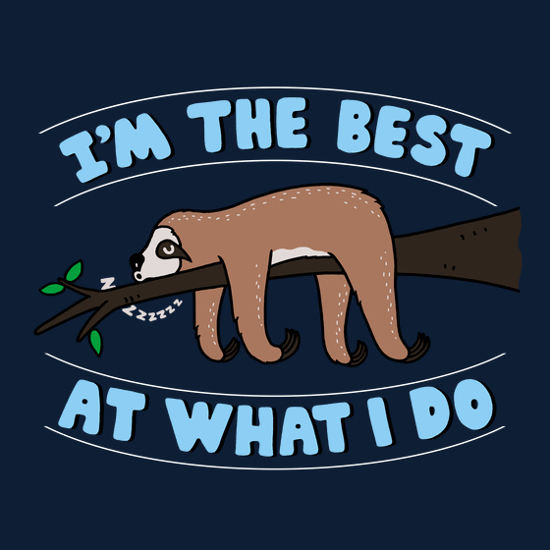 I'm the Best at What I Do Sloth T-Shirt