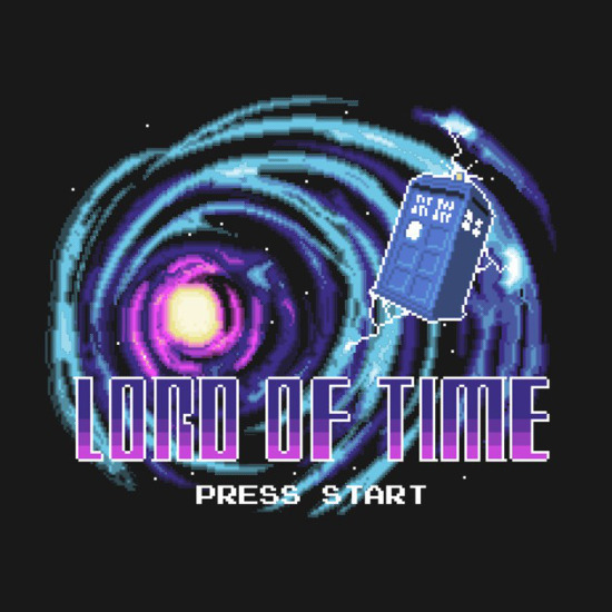 Lord of Time Doctor Who Nintendo Game T-Shirt